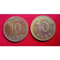 10 вон (Южная Корея)/1991/храм/