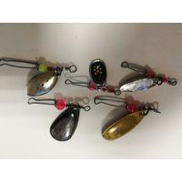 Блесна вертушки для рыбалки 5 штук