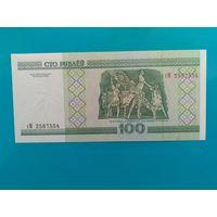 100 рублей 2000 года. Беларусь. Серия гМ. UNC