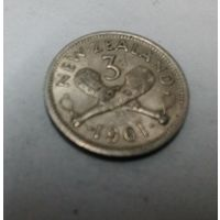 Новая Зеландия 3 пенса, 1961