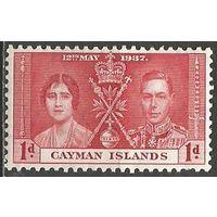 Кайманы. Король Георг VI и королева Елизавета. 1937г. Mi#98.