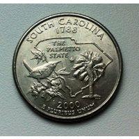 25 центов США 2000 г South Carolina