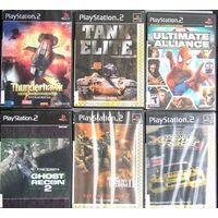 Игры ( 6 шт. ) для  Sony PlayStation 2  б/у набор 1