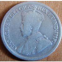 8. Канада 10 центов 1936 год, серебро*