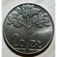 "20 злотых 1973 г. ""Дерево"". ПРОБА! UNC."