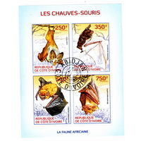 Летучие мыши  на марках Кот Д ивуара