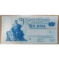 1 песо 1935 года - Аргентина - UNC - редкая