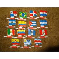 Флажки разных стран 15 шт.