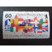 Берлин 1986 флаги европейских стран Михель-1,3 евро гаш.