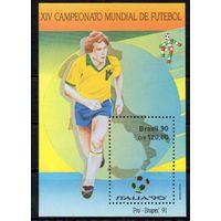 Спорт Футбол Бразилия 1990 год 1 чистый блок