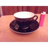 Интересная чашка с блюдцем ЛФЗ с рубля
