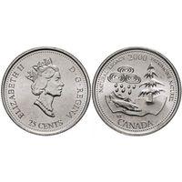 Канада 25 центов 2000 природное наследие UNC
