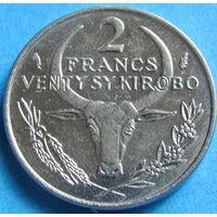1к Мадагаскар 2 франка 1977 распродажа коллеции