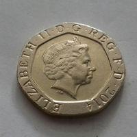 20 пенсов, Великобритания 2014 г.