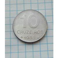 Бразилия 10 крузейро 1983г.