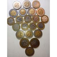 Биметаллические монеты разных стран 22 шт. С 5 руб.