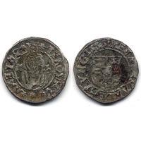 Денарий 1555 KB, Венгрия, Фердинанд I. Подделка, интересный вариант - зеркальная легенда