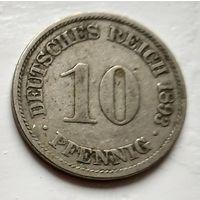 Германия 10 пфеннигов, 1893 A - Берлин 2-1-24