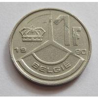 Бельгия 1 франк 1990 BELGIE