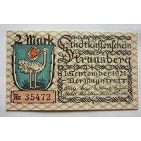 Германия. 2 марки 1921г