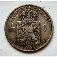 Голландская Ост-Индия 1/10 гульдена, 1906 1-7-23