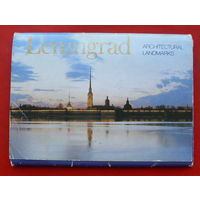 Ленинград. Архитектурные памятники. Набор открыток 1984 года ( 18 шт. )