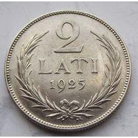 Латвия, 2 лата, 1925, серебро