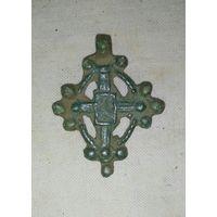 Крестик-11-13 век, Ранний образец Процветшего креста. РЕДКОСТЬ-R 10