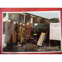 Фото из 90-х. Занятия по специальной подготовке. Артиллеристы