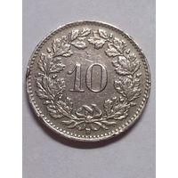 Швейцария 10 раппенов 1947