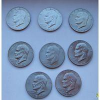 1 доллар 1971-1978 Low Relief США медно-никелевый сплав
