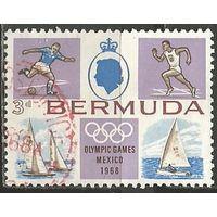 Бермуды. Олимпиада Мехико'68. 1968г. Mi#215.