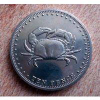 Тристан-да-Кунья. 10 центов 2008 г.