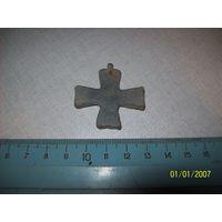 Крестик нательный  металл