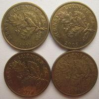 Хорватия 5 липа 2003, 2005, 2007, 2011 гг. Цена за 1 шт. (v)