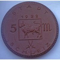 РАСПРОДАЖА!!! - ГЕРМАНИЯ ШЛАЙЦ 5 марок 1922 год