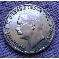 Баден. 5 марок 1908 г.