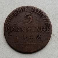 Пруссия 3 пфенниг 1842