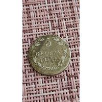 Польша 5 грош 1819 г