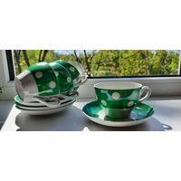 Рижский сервиз чашки кружки с тарелками RPR