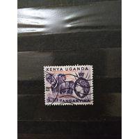 Английская колония Кения -Уганда-Танганика фауна королева (4-6)