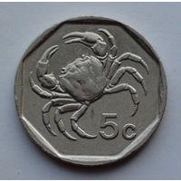 Мальта 5 центов. 1995