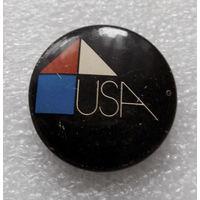 Архитектура США. Значок с Выставки 1978 г. #0352 U-P05