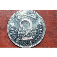 Шри Ланка 2 рупии 2008