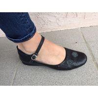 Балетки туфли 39 размер кожа натуральная