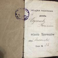 Ksiazka podatkowa Szereszow.1926r.
