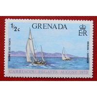 Гренада. Парусный спорт ( 1 марка ) 1973 года.