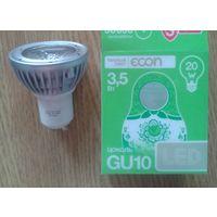 Лампочка светодиодная LED 3,5W цоколь GU10 Цвет - теплый.