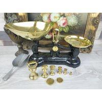 Весы разновесы как у Высоцкой бронза латунь чугун Совочек в комплекте Librasco Клеймо