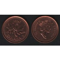 Канада _km289 1 цент 1999 год (-) (f32)*